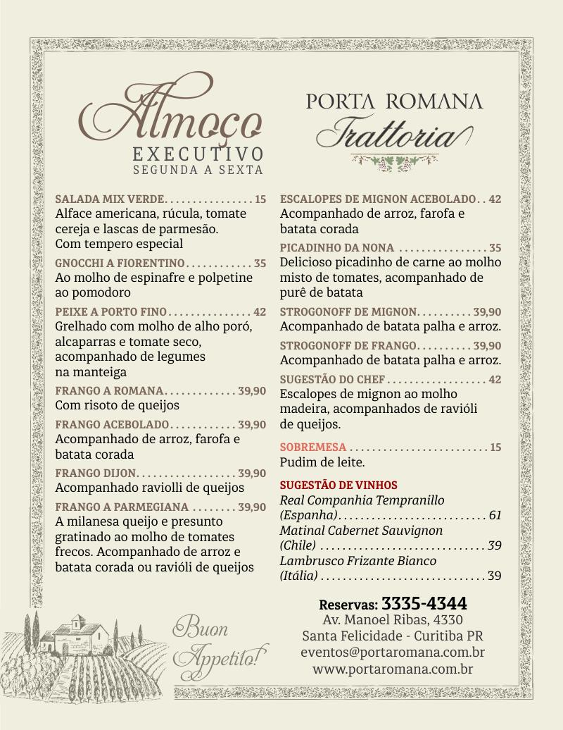 Porta Romana - Almoço Executivo